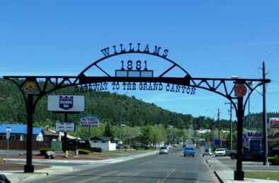 Leaving Williams, heading West