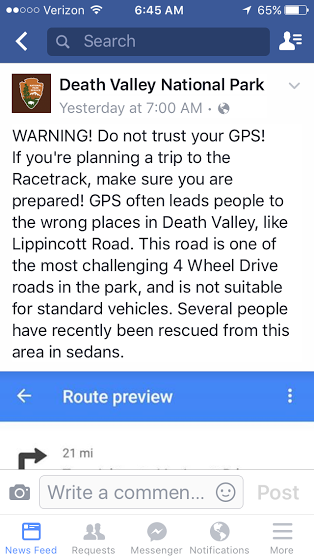 FB warning